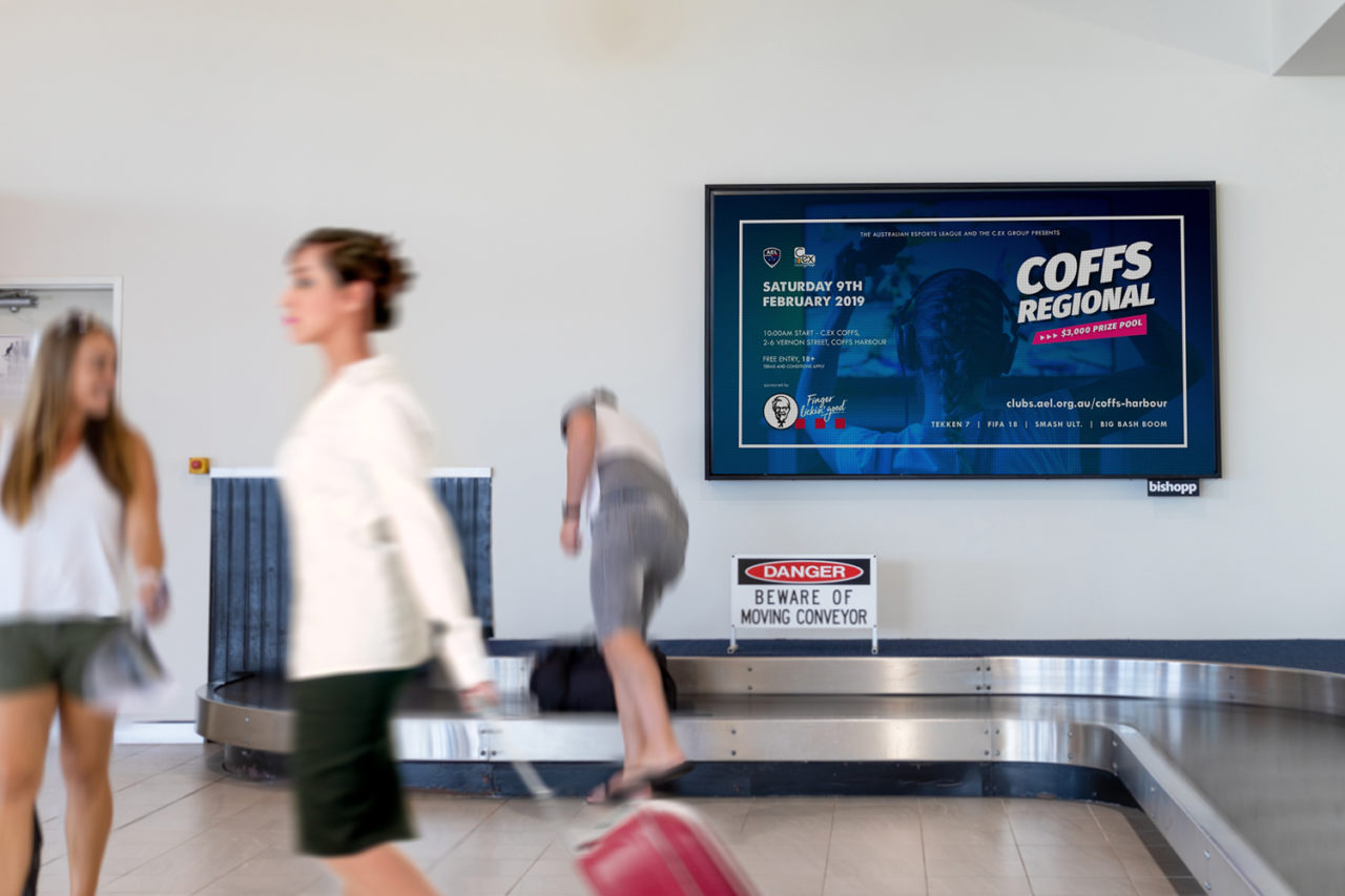 Coffs Harbour Airport Advertising, Airport Advertising, Bishopp Outdoor Advertising, Bishopp Airport Advertising, Advertising, Airport Advertising