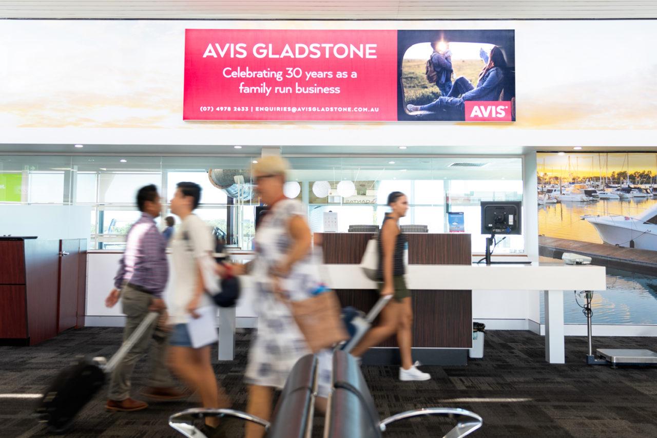 Gladstone Airport Advertising, Airport Advertising, Bishopp Outdoor Advertising, Bishopp Airport Advertising, Advertising, Airport Advertising