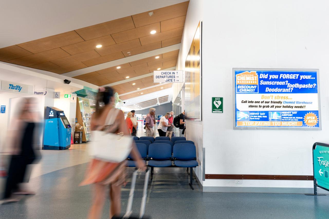 Hervey Bay Airport Advertising, Airport Advertising, Bishopp Outdoor Advertising, Bishopp Airport Advertising, Advertising, Airport Advertising