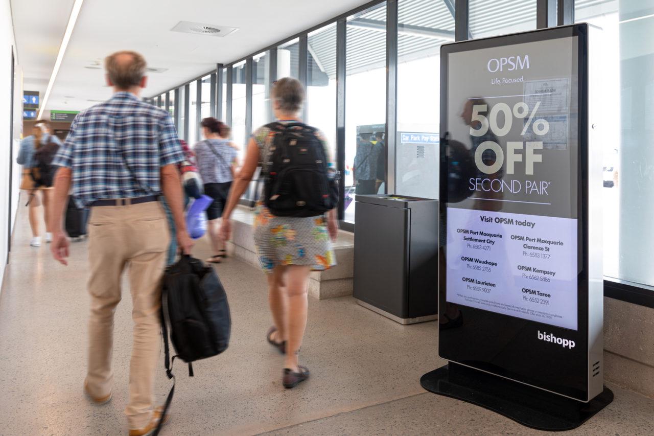 Port Macquarie Airport Advertising, Airport Advertising, Bishopp Outdoor Advertising, Bishopp Airport Advertising, Advertising, Airport Advertising