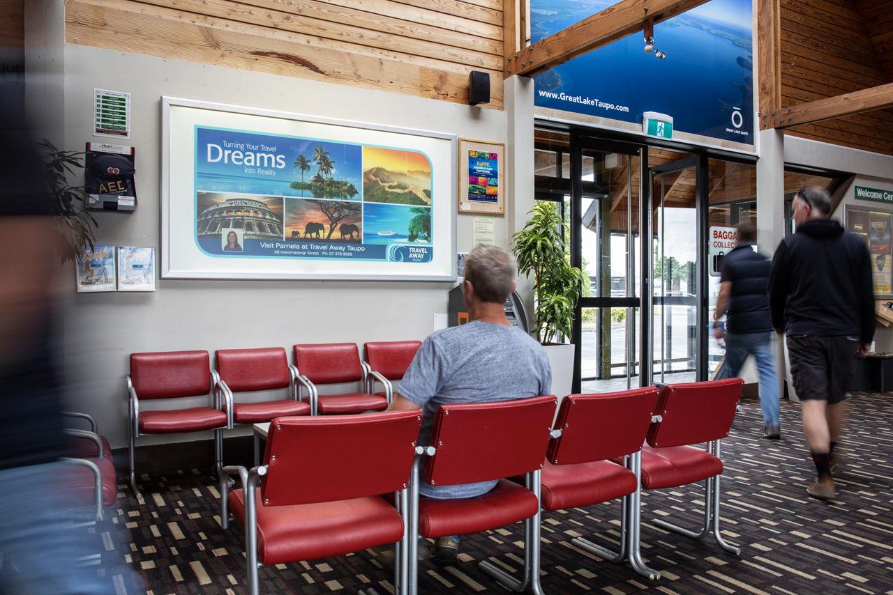 Taupo Airport Advertising, Airport Advertising, Bishopp Outdoor Advertising, Bishopp Airport Advertising, Advertising, Airport Advertising