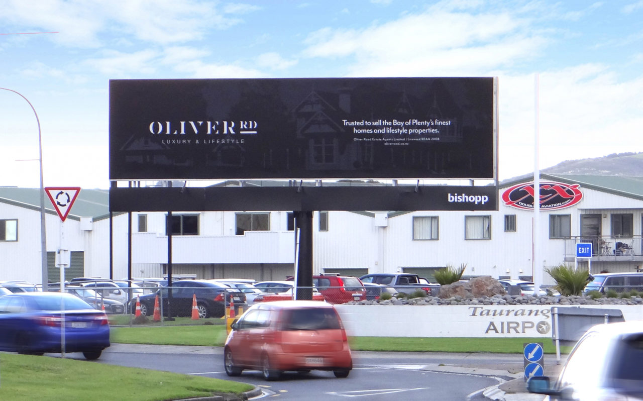 Tauranga Airport Supersite Billboard Advertising