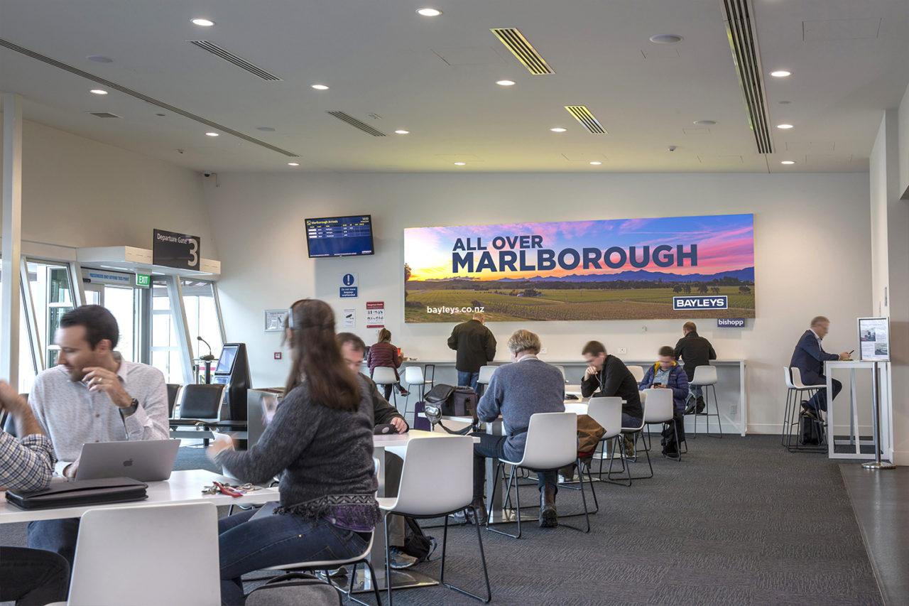 Marlborough Airport Advertising, Advertisng, Bishopp Advertising, Billboard Advertising, Large Advertisng, Indoor Advertising, Airport Advertising