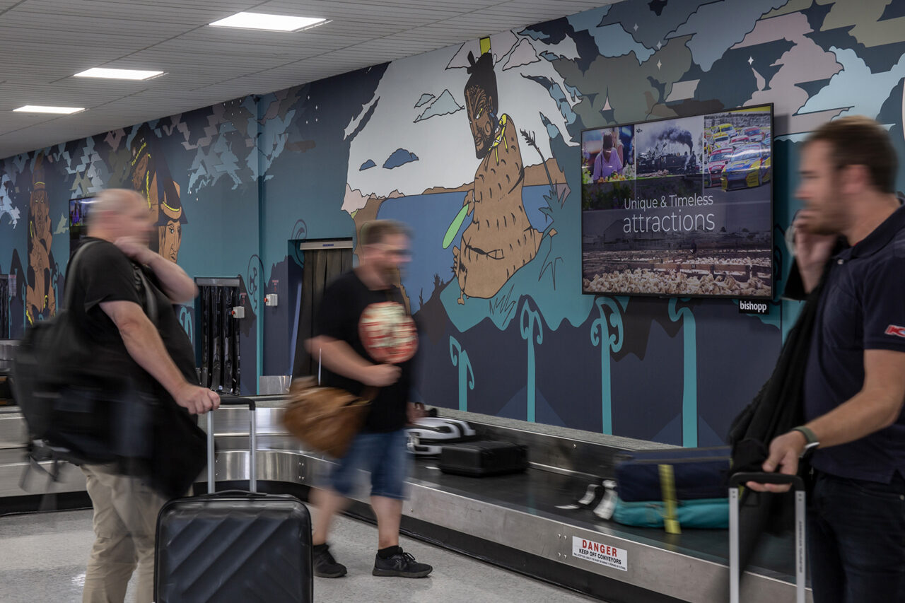 Palmerston North Airport, Airport Advertising, Bishopp Airport Advertising, Bishopp Group, Palmerston North Advertising